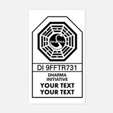 Custom Dharma Label Decal