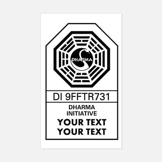 Custom Dharma Label Decal