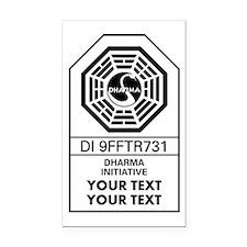 Custom Dharma Label Rectangle Car Magnet