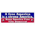 Free America Strong America Bumpersticker