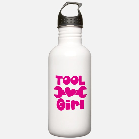 Tool Girl with a spanner Sports Water Bottle