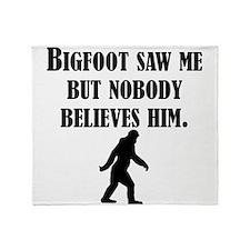 Bigfoot Saw Me Throw Blanket