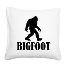 Bigfoot Square Canvas Pillow