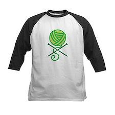 Green knitting Crossbones Pirate knitter Baseball