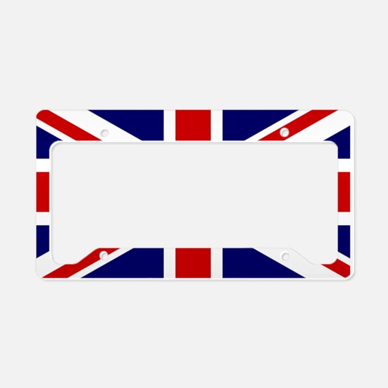 Union Jack Flag of the United License Plate Holder