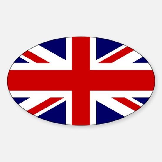Union Jack Flag of the United Kingd Sticker (Oval)