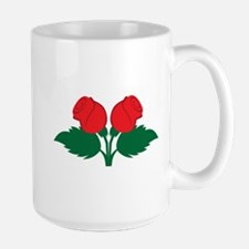 Duo two RED Roses Mugs