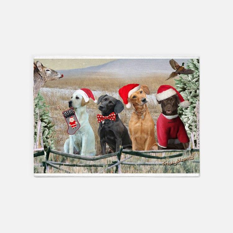 Labrador Retriever Christmas Rugs Labrador Retriever