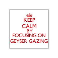 Keep calm by focusing on on Geyser Gazing Sticker