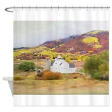 Park City Barn in the Fall Shower Curtain