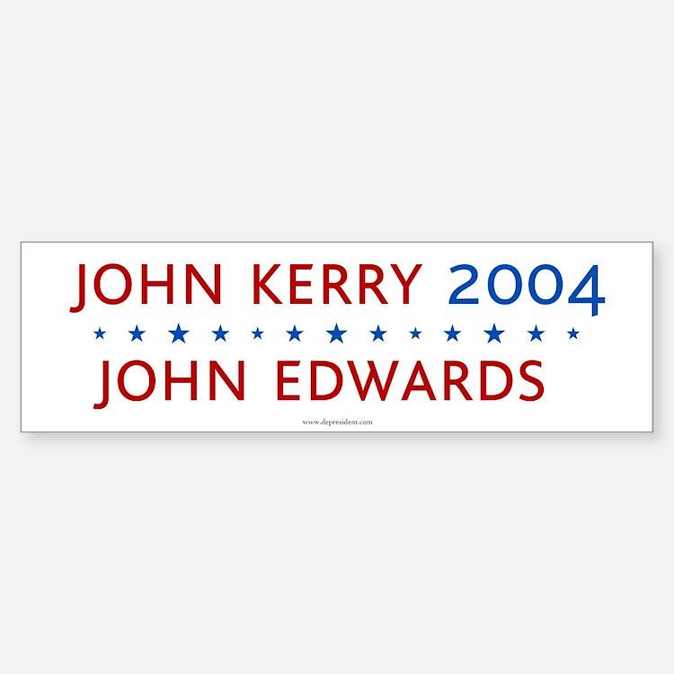 Kerry Edwards 2004. Bumper Bumper Bumper Sticker
