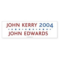 Kerry Edwards 2004. Bumper Bumper Sticker