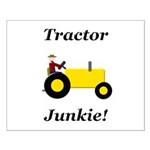 Yellow Tractor Junkie Small Poster