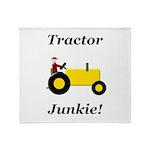Yellow Tractor Junkie Throw Blanket