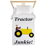 Yellow Tractor Junkie Twin Duvet