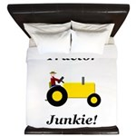Yellow Tractor Junkie King Duvet