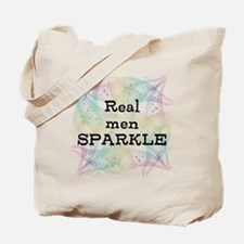 Real Men Sparkle Tote Bag