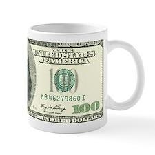 US 100 Bill Mug