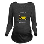 Yellow Tractor Addict Long Sleeve Maternity T-Shir