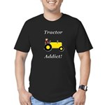 Yellow Tractor Addict Men's Fitted T-Shirt (dark)
