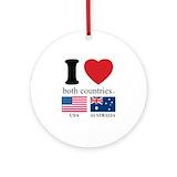 Australia Round Ornaments
