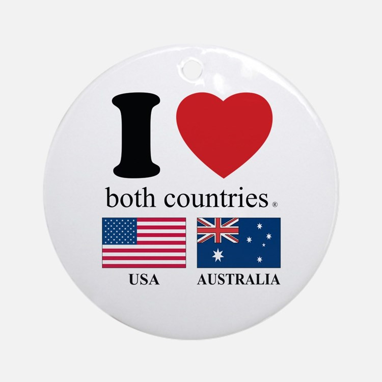 USA-AUSTRALIA.Psd Ornament (Round)