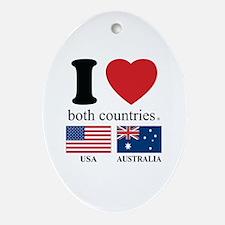 USA-AUSTRALIA.Psd Ornament (Oval)