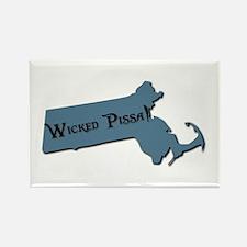 Wicked Pissa Massachusetts Rectangle Magnet