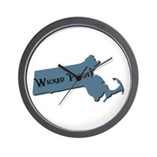 Wicked Pissa Massachusetts Wall Clock