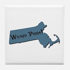 Wicked Pissa Massachusetts Tile Coaster
