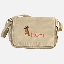 Funny Boxer mom Messenger Bag