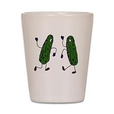 Funny Pickles Dancing Shot Glass