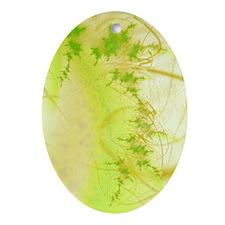 Spring Fractal Oval Ornament