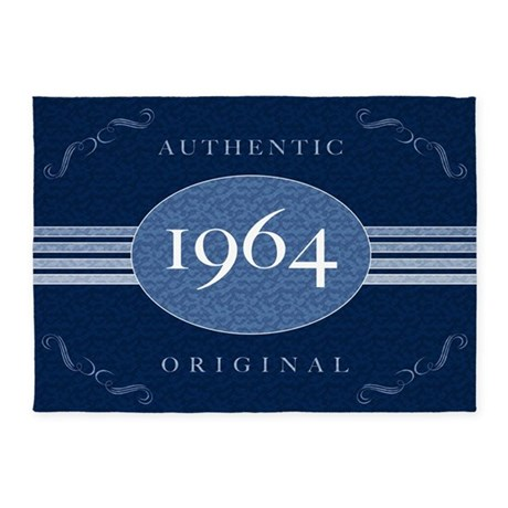 1964 Authentic Birth Year 5'x7'Area Rug