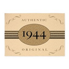 1944 Authentic Birth Year 5'x7'Area Rug