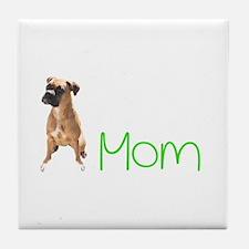 Unique Boxer mom Tile Coaster