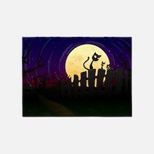 Halloween Fence 5'x7'Area Rug