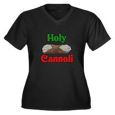 Holy Cannoli Women's Plus Size V-Neck Dark T-Shirt