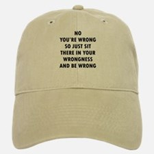 No Wrong Baseball Baseball Cap