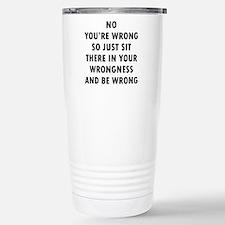 No Wrong 16 oz Stainless Steel Travel Mug