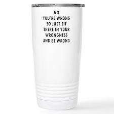 No Wrong Stainless Steel Travel Mug