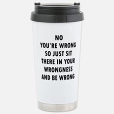 No Wrong Travel Mug