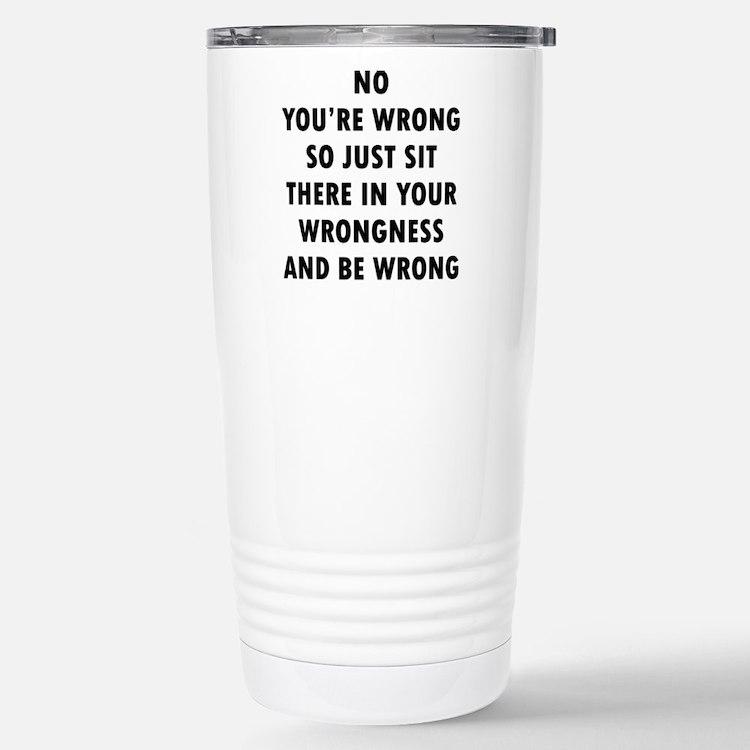 No Wrong Travel Mug