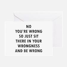No Wrong Greeting Card