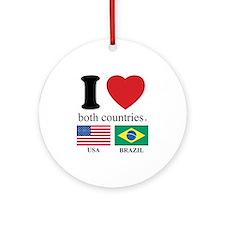 USA-BRAZIL.Psd Ornament (Round)