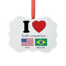 USA-BRAZIL.Psd Ornament