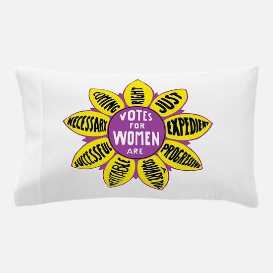 Suffragette Voting flower design Pillow Case
