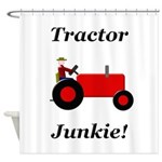 Red Tractor Junkie Shower Curtain