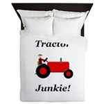 Red Tractor Junkie Queen Duvet