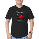 Red Tractor Junkie Men's Fitted T-Shirt (dark)